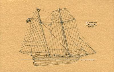 U.s. Revenue Cutter Louisiana Poster by Retro Images Archive
