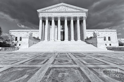 Us Supreme Court Building Ix Poster by Clarence Holmes