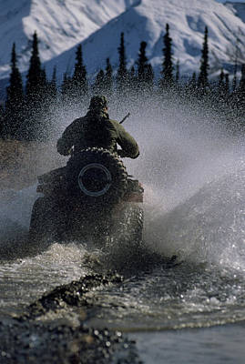 Usa, Alaska, Park Ranger, All Terrain Poster by Gerry Reynolds