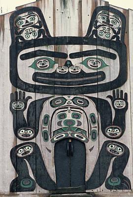 Usa, Alaska, Wrangell, Tlingit Tribal Poster by Gerry Reynolds