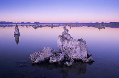 Usa, California, Tufa Formations And Poster by Greg Vaughn