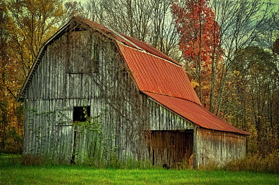 Usa, Indiana Rural Landscape Poster by Rona Schwarz