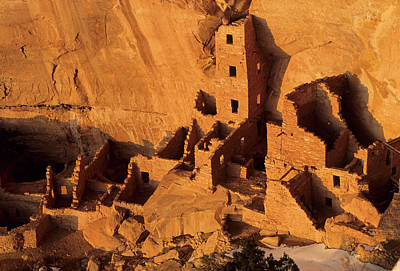 Usa, Native American Cliff Dwellings Poster by Gerry Reynolds