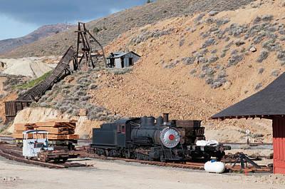 Usa, Nevada Old Steam Locomotive Poster by Michael Defreitas