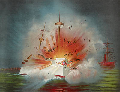 Uss Maine Circa 1898  Poster by Aged Pixel