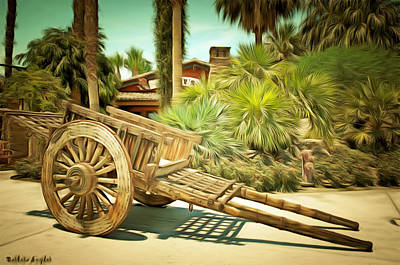 Wooden Hand Cart  Poster by Barbara Snyder