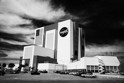 vab vehicle assembly building and launch control center Kennedy Space Center Florida Poster by Joe Fox