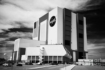 vab vehicle assembly building and launch control center Kennedy Space Center Florida USA Poster by Joe Fox