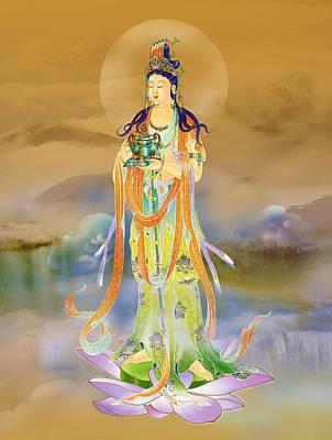 Vaidurya  Kuan Yin Poster by Lanjee Chee