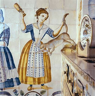 Valencian Kitchen Tile With Scenes Poster by Everett