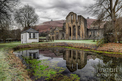 Valle Crucis Abbey Poster by Adrian Evans