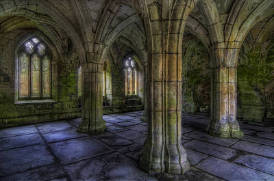 Valle Crucis Abbey Poster by Ian Mitchell