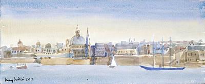 Valletta Skyline Poster by Lucy Willis