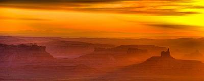 Valley Of The Gods Sunrise Utah Four Corners Monument Valley II Poster by Silvio Ligutti