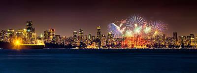 Vancouver Celebration Of Light Fireworks 2013 - Day 2 Poster by Alexis Birkill