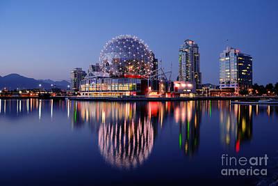 Vancouver - False Creek At Dusk Poster by Terry Elniski
