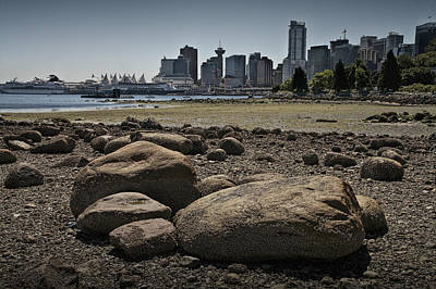 Vancouver Harbor By Stanley Park At Low Tide No. 0685 Poster by Randall Nyhof