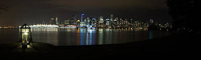 Vancouver Panorama At Night Poster by Jeremy Oberg