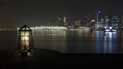 Vancouver Skyline At Night 2 Poster by Jeremy Oberg