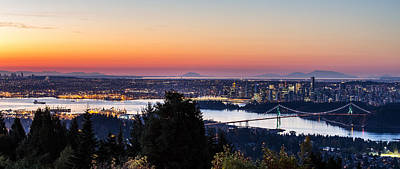 Vancouver Sunrise British Columbia Poster by Pierre Leclerc Photography