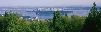 Vancouver Viewed From From A Far Poster by Panoramic Images