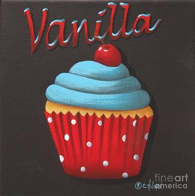 Vanilla Cupcake Poster by Catherine Holman