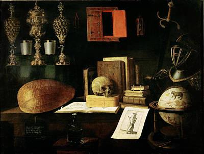 Vanitas Still Life, 1641 Oil On Canvas Poster by Sebastian Stoskopff