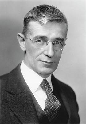 Vannevar Bush Poster by Emilio Segre Visual Archives/american Institute Of Physics