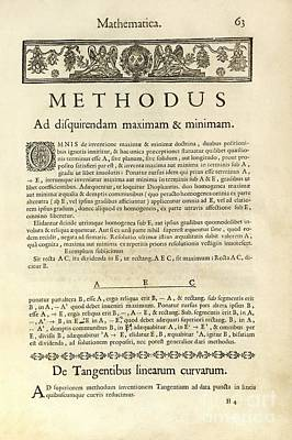 Varia Opera Mathematica By Pierre Fermat Poster by Royal Astronomical Society
