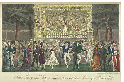 Vauxhall Gardens Poster by British Library