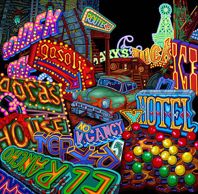 Vegas Lights Poster by Brian Kemper