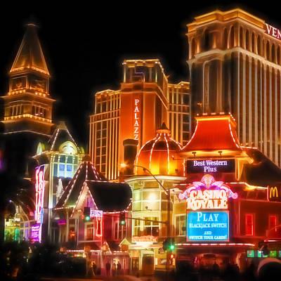 Vegas Lights Poster by Lutz Baar