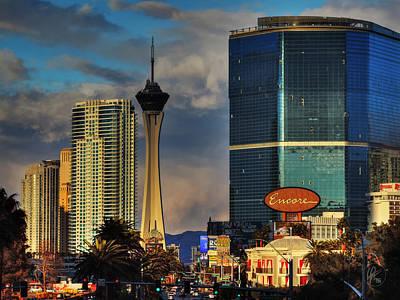 Vegas Strip 001 Poster by Lance Vaughn