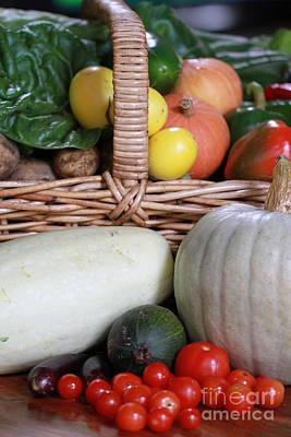Vegetable Basket Poster by Kelly Jones