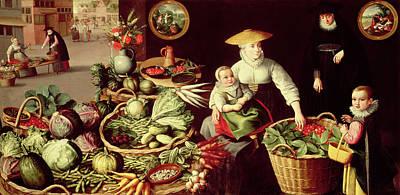 Vegetable Market Poster by Lucas van Valckenborch