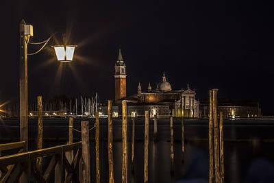 Venice San Giorgio Maggiore At Night Poster by Melanie Viola