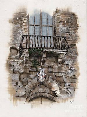 Venetian Balcony 02 Elena Yakubovich Poster by Elena Yakubovich