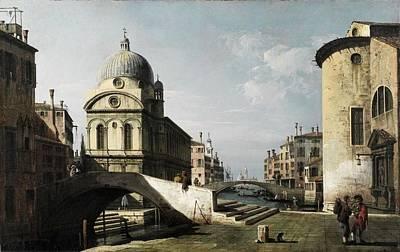 Venezianisches Capriccio Mit Ansicht Von Santa Maria Dei Miracoli C 1740  Poster by MotionAge Designs