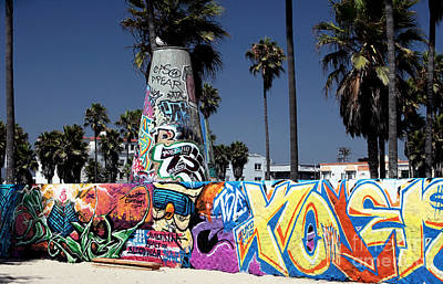 Venice Beach Graffiti Poster by John Rizzuto