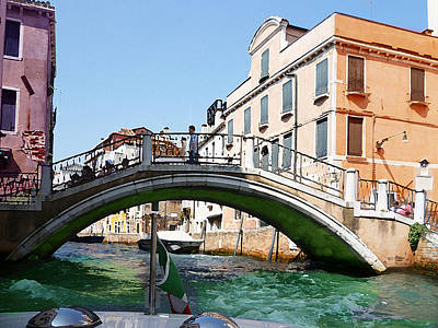 Venice Bridge Poster by Irina Sztukowski