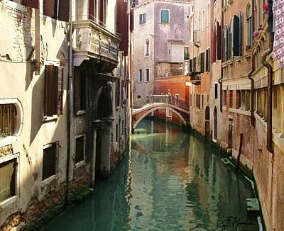 Venice Canal Poster by Ellen Henneke