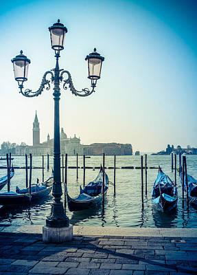 Venice Gondolas Poster by Mr Doomits