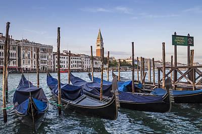 Venice Grand Canal And Goldolas Poster by Melanie Viola