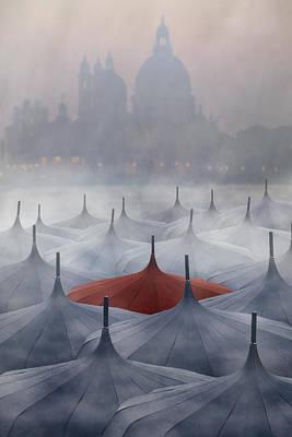 Venice In Rain Poster by Joana Kruse