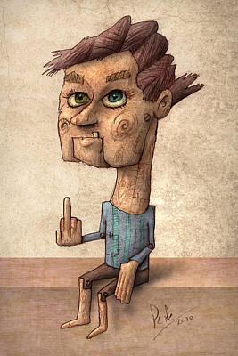 Ventrilocuist Dummy Poster by Autogiro Illustration
