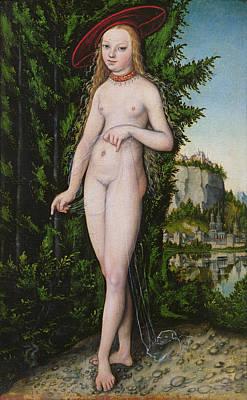 Venus In A Landscape, 1529 Poster by Lucas the Elder Cranach
