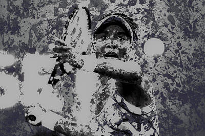Venus Williams Paint Splatter 2e Poster by Brian Reaves