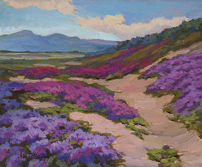 Verbena Harmony In Purple Poster by Diane McClary