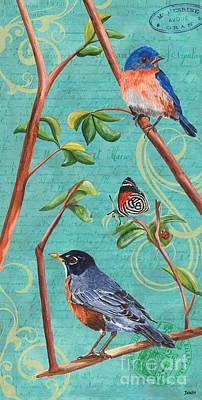 Verdigris Songbirds 1 Poster by Debbie DeWitt