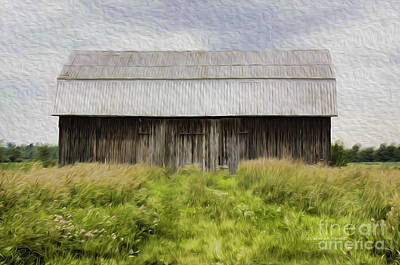 Vermont Barn In Oil Poster by Deborah Benoit